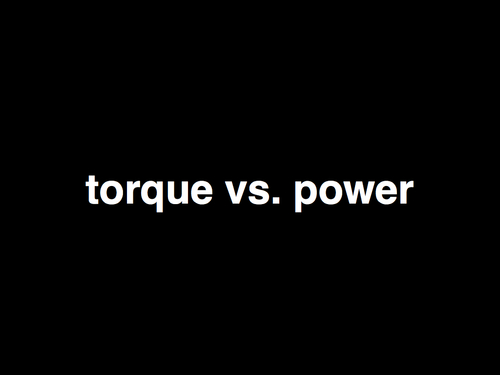torque vs. power