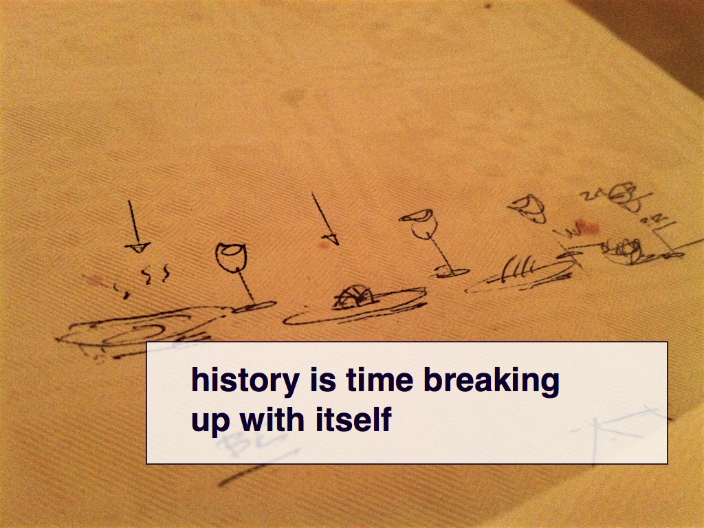 history is time breaking up with itself
